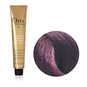 Tinta Capelli Castano Chiaro Viola 5.2 Professionale - Color Keratin - Oro Therapy