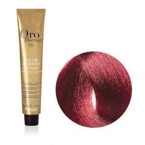 Tinta Capelli Castano Chiaro Mogano 5.5 Professionale - Color Keratin - Oro Therapy