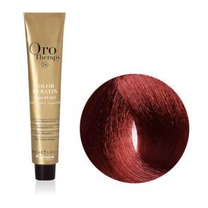 Tinta Capelli Castano Chiaro Rosso Caldo 5.606 Professionale - Color Keratin - Oro Therapy