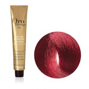 Tinta Capelli Castano Chiaro Rosso 5.6 Professionale - Color Keratin - Oro Therapy