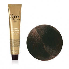 Tinta Capelli Cioccolato Fondente 6.14 Professionale, Color Keratin, Oro Therapy