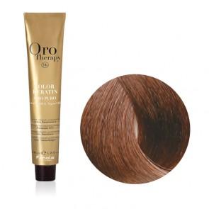 Tinta Capelli Nocciola 7.14 Professionale - Color Keratin - Oro Therapy