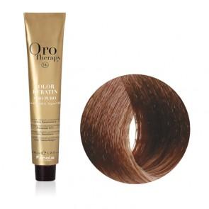 Tinta Capelli Biondo Dorato Rame 7.34 Professionale - Color Keratin - Oro Therapy