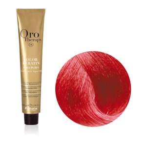 Tinta Capelli Biondo Rosso Caldo 7.606 Professionale - Color Keratin - Oro Therapy