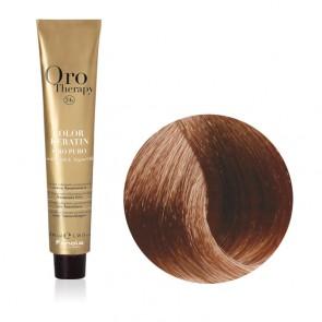 Tinta Capelli Biondo Chiaro Dorato Rame 8.34 Professionale - Color Keratin - Oro Therapy