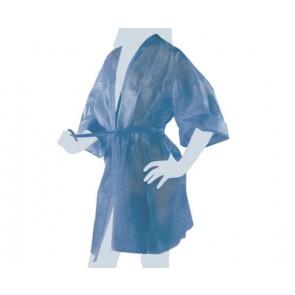 Kimono Monouso Blu TNT Unisex, Confezionato Singolarmente, 10 pz
