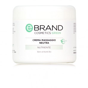 Crema Massaggio Corpo Neutra - Ebrand Cosmetics - Vaso da 500 ml