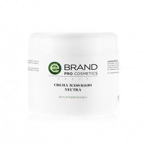 Crema Massaggio Corpo Neutra - Ebrand Green - Vaso da 500 ml