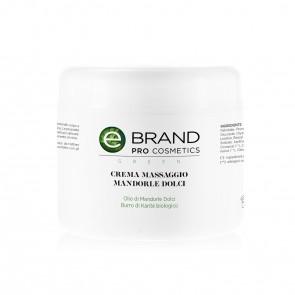 Crema Massaggio Corpo Mandorle Dolci - Ebrand Green - Vaso 500 ml