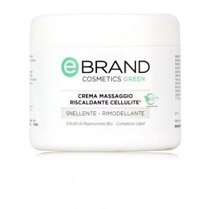Crema Massaggio Snellente Effetto Termico - Ebrand Green - Vaso 500 ml