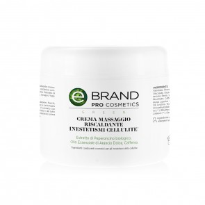Crema Massaggio Riscaldante Cellulite - Ebrand Green - Vaso 500 ml
