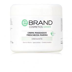Crema Massaggio Drenante Freschezza Marina - Ebrand Cosmetics - Vaso 500 ml