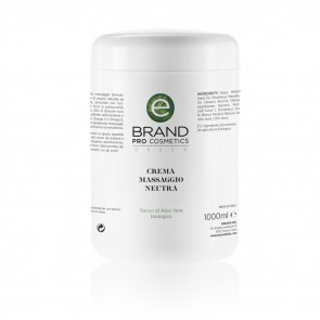 Crema massaggio neutra per corpo, vaso 1000 ml