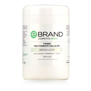 Fango Trattamento Cellulite - Ippocastano Bio, Fostatidilcolina, Caffeina - Ebrand Green - Vaso 1300 gr