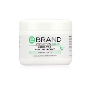 Crema Viso Idratante Anti Age Acido Ialuronico - Ebrand Green - Vaso 250 ml.