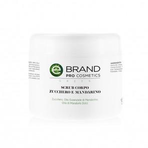 Scrub Corpo Zucchero e Mandarino  - Ebrand Green - Vaso 500 ml
