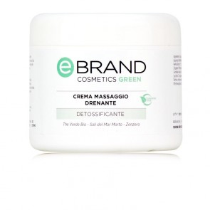 Crema Massaggio Corpo Drenante - Ebrand Green - Vaso 500 ml