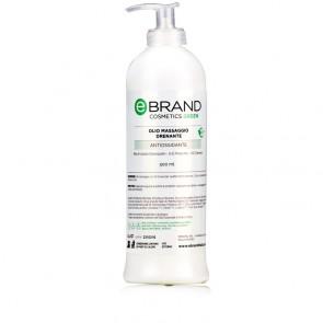 Olio Massaggio Drenante Ebrand Green - Flacone 500 ml