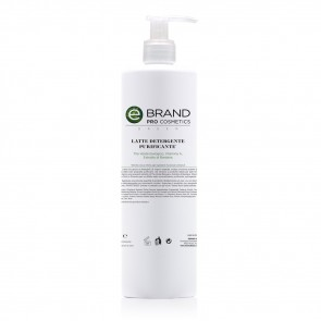 Latte Detergente Purificante Tè Verde, Ebrand Pro Cosmetics, Flacone 500 ml