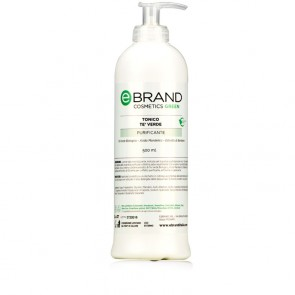 Tonico Viso Purificante Tè Verde - Ebrand Green - Flacone 500 ml.