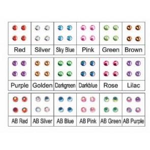 Set Swarovski Punto Luce Medio 12 Colori - Decorazione Nail Art