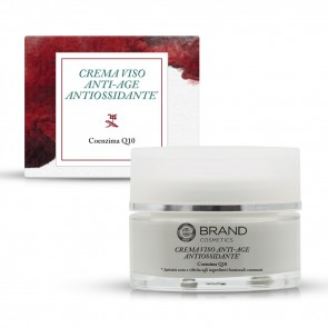 Crema viso antiossidante coenzima Q10, anti age, ml. 50, Ebrand Cosmetics
