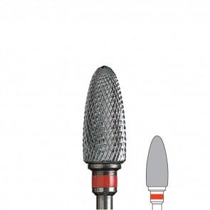 Fresa Unghie Tronco di Cono In Carburo di Tungsteno con Grana Fine Edenta, diametro 6 mm