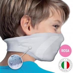 Mascherina Filtrante Lavabile per Bambino - Colore Rosa