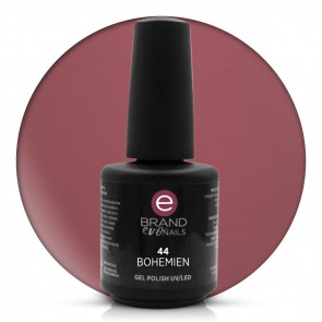Smalto Semipermanente Rosso Borgogna, Bohemien, Nr. 44, 15 ml, Evo Nails