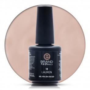 Smalto Semipermanente Nude Beige, Lauren Nr.13, 15 ml, Evo Nails