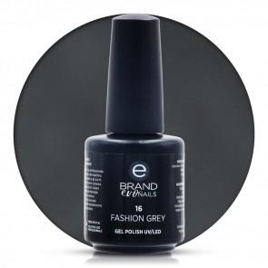 Smalto Semipermanente Antracite, Fashion Grey Nr. 16, 15 ml, Evo Nails