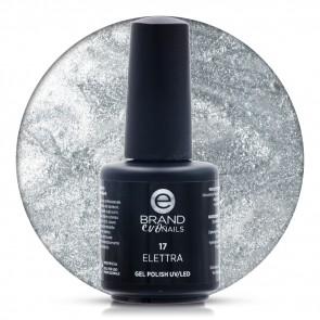 Smalto Semipermanente Argento, Elettra Nr. 17, 15 ml, Evo Nails