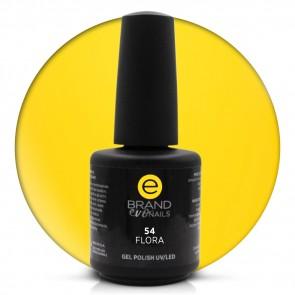 Smalto Semipermanente Giallo Intenso, Flora nr. 54, 15 ml, Evo Nails