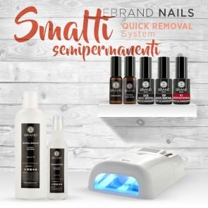 """Kit Smalti Semipermanenti Ebrand Nails """"Quick Removal"""" con Lampada Uv"""