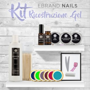 Kit Gel Uv Ebrand Nails 4 Colori + Basi Gratis