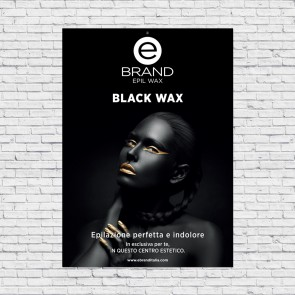 Poster Rigido Ebrand Black Wax, 50x70cm