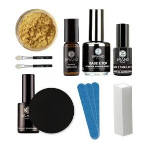 Kit Unghie Effetto Specchio - Mirror Powder Gold - Ebrand Nails