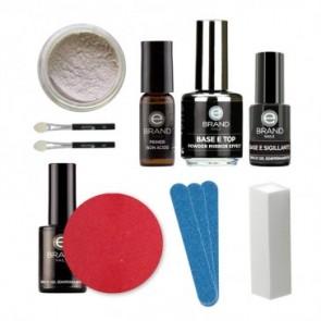 Kit Unghie Effetto Specchio - Mirror Powder White  - Ebrand Nails