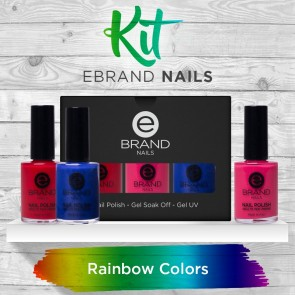 Kit Rainbow Colors - Ebrand Nails