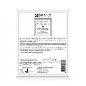 Maschera Monouso Anti-Age Imbibita - Acido Jaluronico - Ebrand Advance