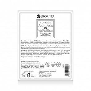 Maschera Monouso Imbibita Anti-Age Liftante Antiossidante - Ebrand Advance - Conf. 10pz