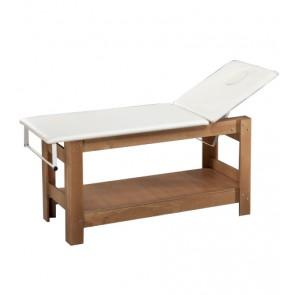 Lettino In Legno Completo di Foro Viso e Portarotolo Wooden Relax