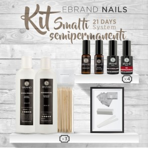 "Kit Smalti Semipermanenti Ebrand Nails ""21 Days"""