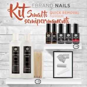 """Kit Smalti Semipermanenti Ebrand Nails """"Quick Removal"""""""