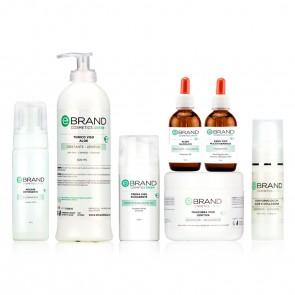 Protocollo Viso Esfoliante/Schiarente - Acido Glicolico - Ebrand Green