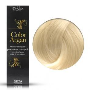 Crema Colorante Permanente, Color Argan, 12.0 Biondo Platino Naturale, 120 ml