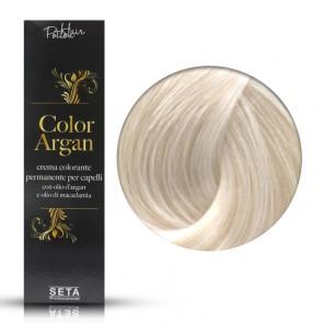 Crema Colorante Permanente, Color Argan, 12.1 Biondo Platino Cenere, 120 ml