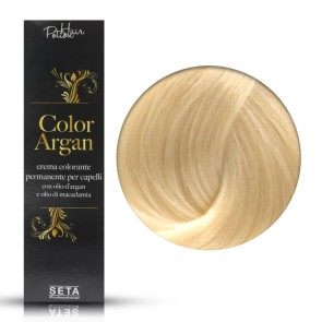 Crema Colorante Permanente, Color Argan, 12.3 Biondo Platino Dorato, 120 ml