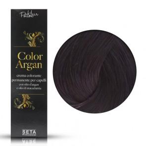 Crema Colorante Permanente Color Argan 4.20 Castano Prugna - 120 ml