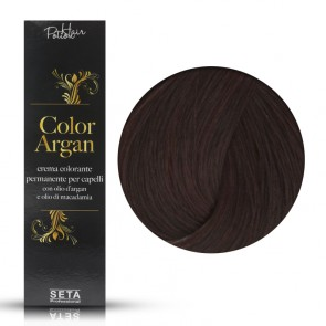 Crema Colorante Permanente, Color Argan, 4.5 Mogano Scuro, 120 ml